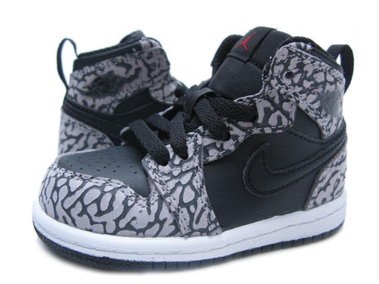 Nike Mens Shoes - Nike Air Jordan 1 Retro High Black/Cement Grey/Anthracite/Gym Red Q80a9620