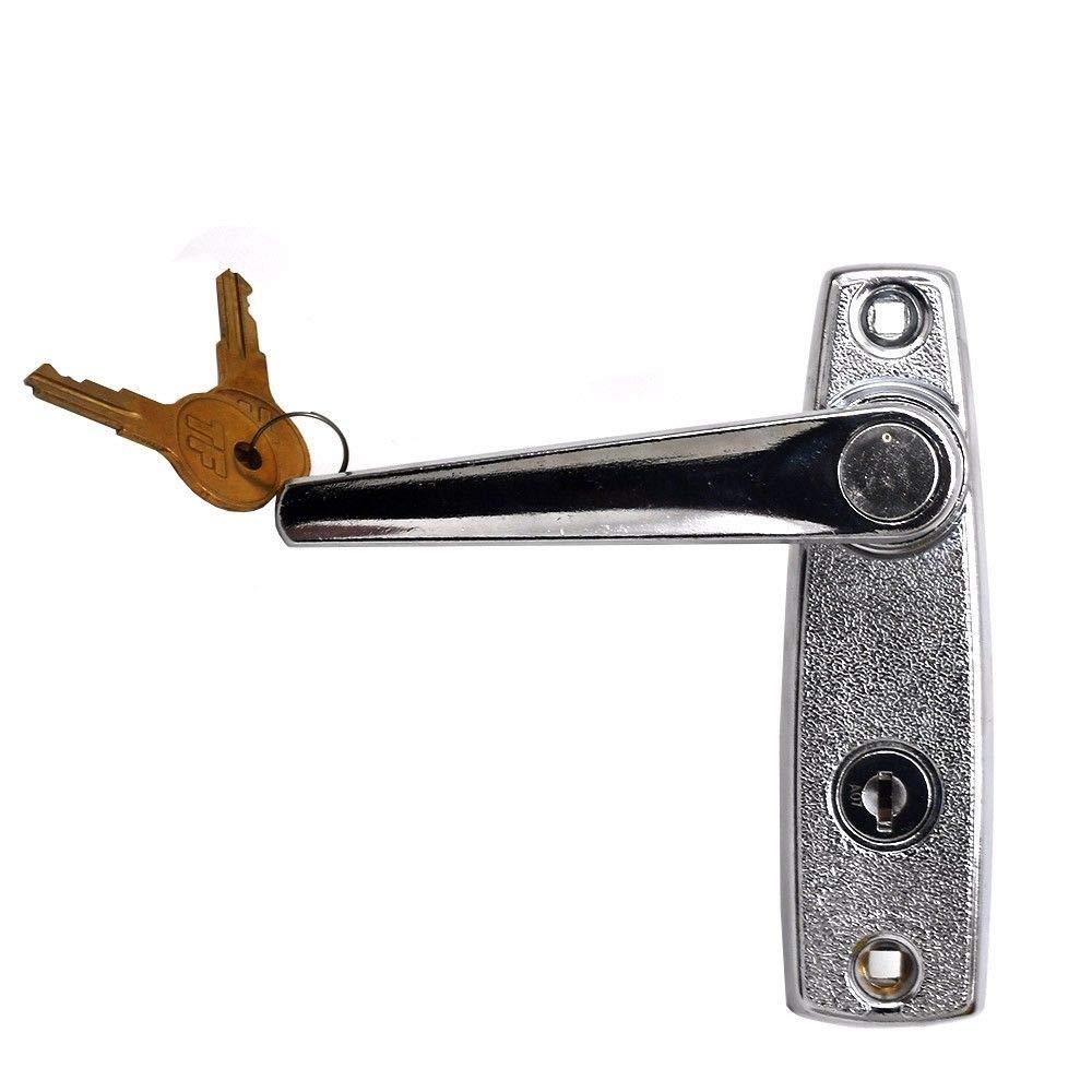 Garage Door Part Exterior Side Lock L-Handle w//Keys