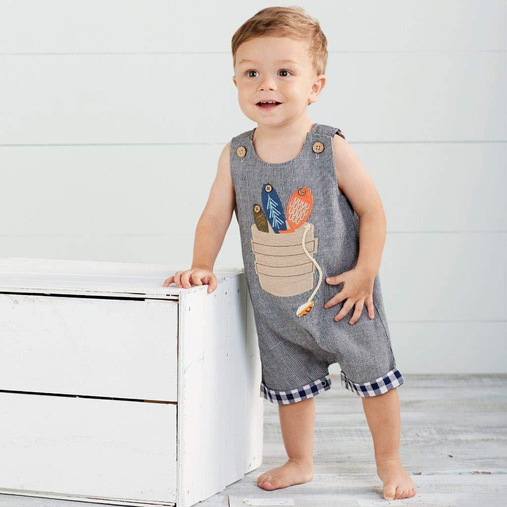 Mud Pie Baby Boys Fishing Bucket Shortall Infant