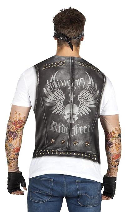 Fotorealistisches T-Shirt - Biker - Herren-Kostüm Junggesellenabschied  Rocker, Größe:XL: Amazon.de: Spielzeug