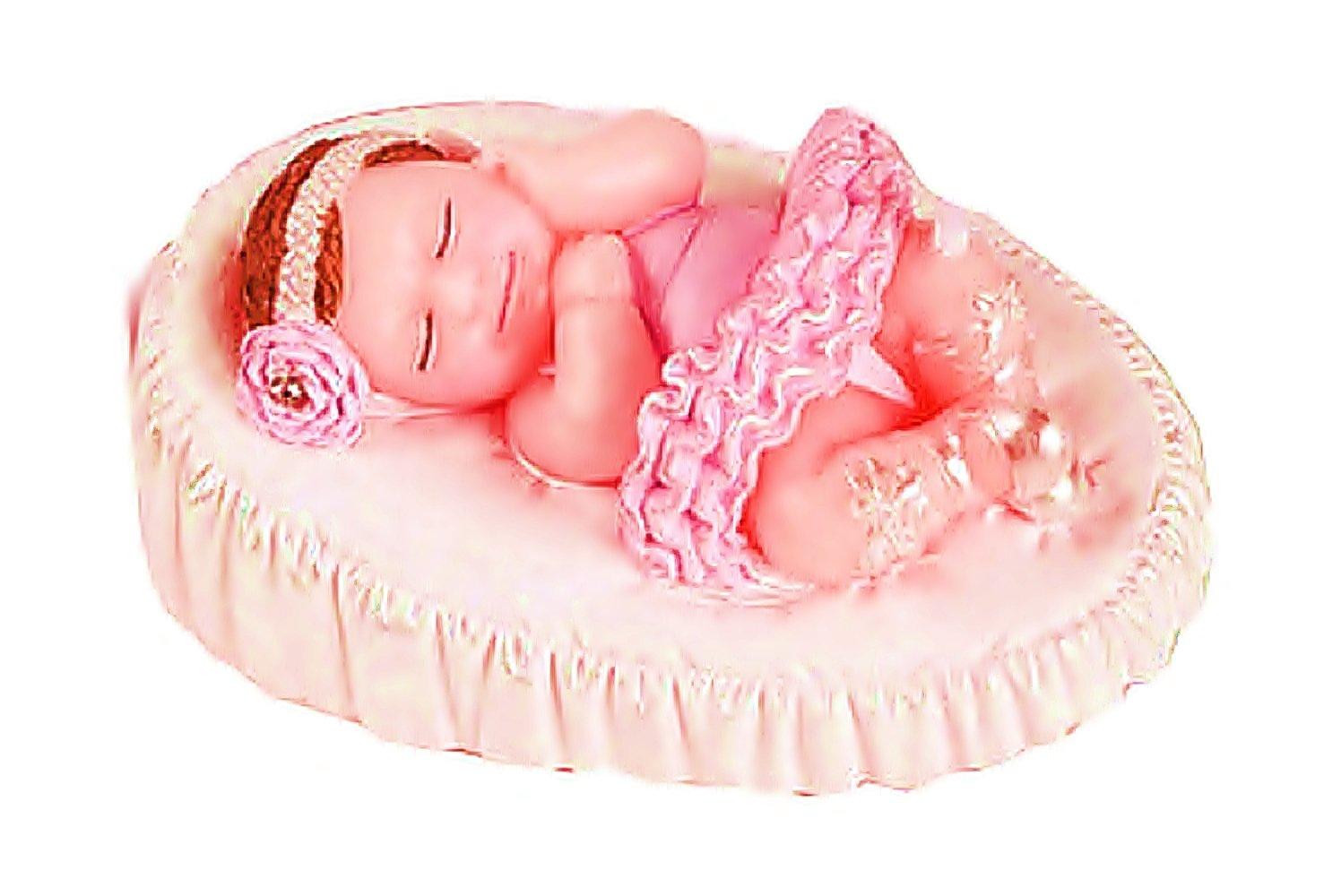 Molde de silicona para uso Artesanal Virtud una bimba bebé en cuna: Amazon.es: Hogar