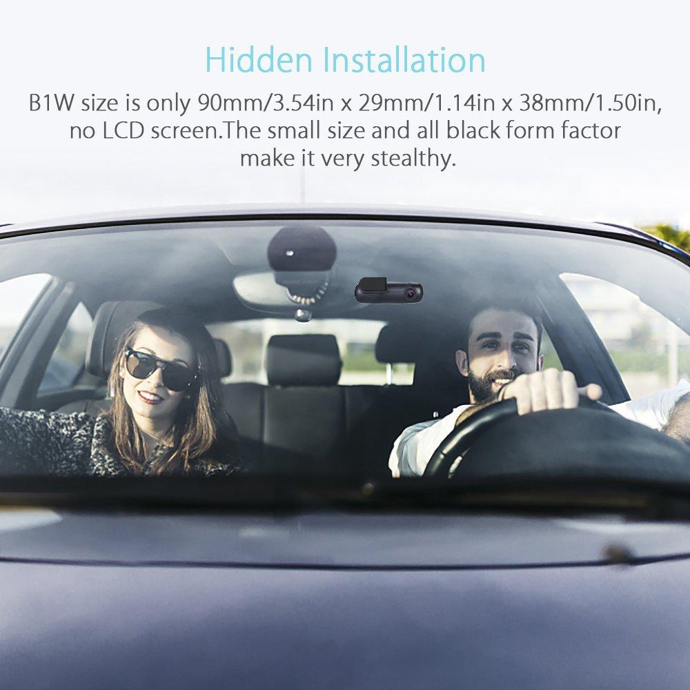 Blueskysea B1W Autokamera Auto Dash Kamera WiFi Mini Dash Cam G-sensor 360/° Objektiv 1080p 30 fps Loop Aufnahme Fahrzeug DVR Rekorder
