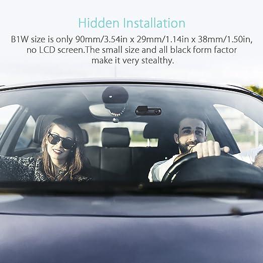 Blueskysea B1W WiFi Mini Cámara del coche Dash cam Grabador de video del vehículo 360 grados Lente giratoria 1080p 30fps G-Sensor Grabación en bucle