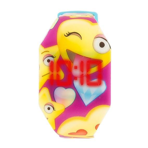 Claire s Accessories Niñas Emoji impresión LED reloj