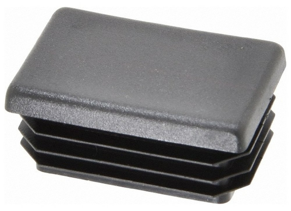 Rectangular Head Plug, 1x1-1/2 OD, Polyethylene, Black 100 Pack