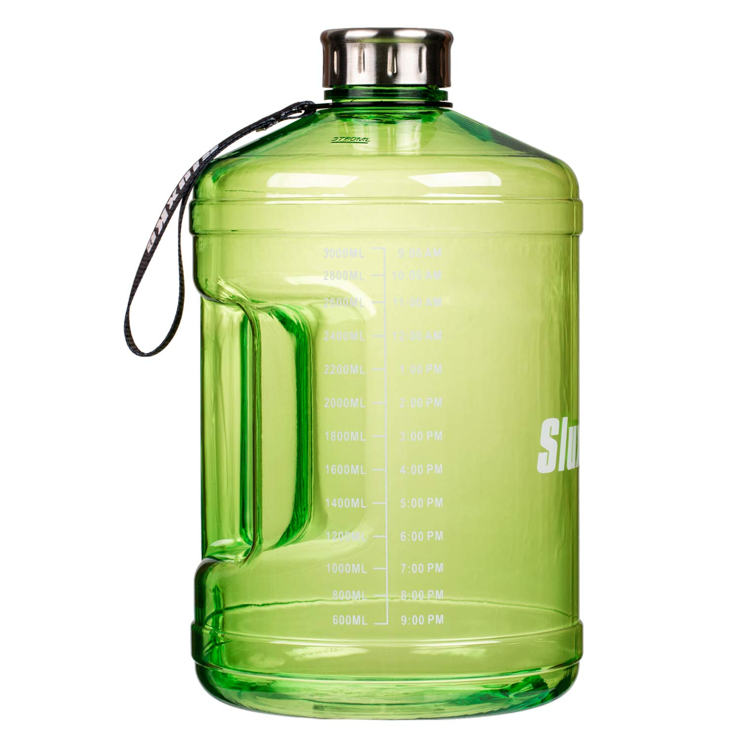 SIuxKe 1Gallon Big Water Bottle Reusable Leak-Proof Drinking Water Jug for Outdoor Camping BPA Free Plastic Sports Water Bottle with Daily Time Marked