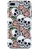 iPhone 7 Plus Case, Dimaka Skull Flower Mix Vintage Stylish Case [Shock ...