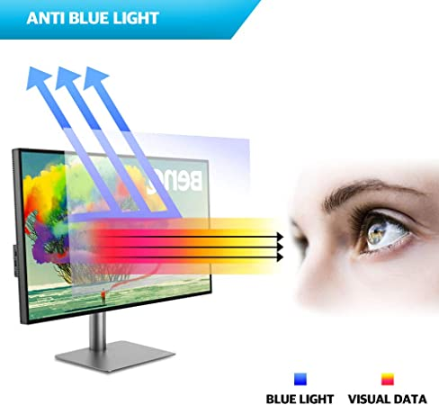 Affichage 17.3 /écran Large BozaBoza Anti Light Blue Screen Filter Anti-Glare Moniteur 16: 9 Mat ou Brillant Anti-Scratch filtrant Bleu Clair pour Ordinateur Portable