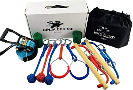 Amazon.com: GSM Brands Ninja Hanging Obstacle Course ...