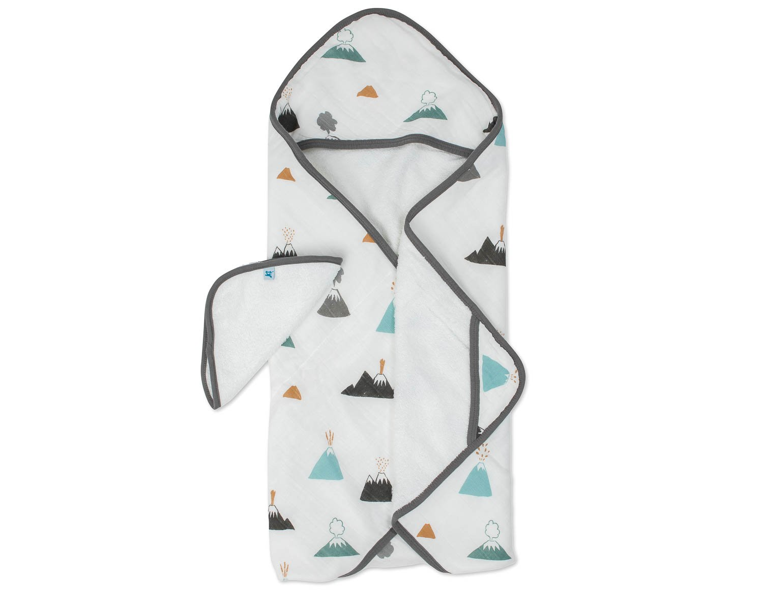 Little Unicorn Cotton Hooded Towel & Wash Cloth - Lava Lava by Little Unicorn
