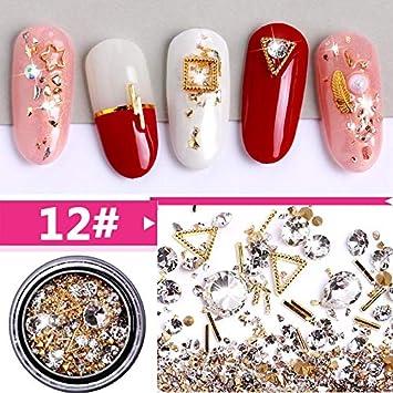 Amazon.com   1 Box Mixed Colorful Rhinestones For Nails 3D Crystal Stones  For Nail Art Decorations Diy Design Manicure Diamonds 12   Beauty d5992e524c85