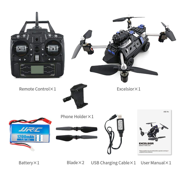 Qewmsg JJR / C H40WH Selfie FPV RC 2.4G RC Quadcopter-Kesselwagen-Drohnenflugzeug mit 720P WiFi HD-Kamera-Höhen-Hold 360 ° -Flips