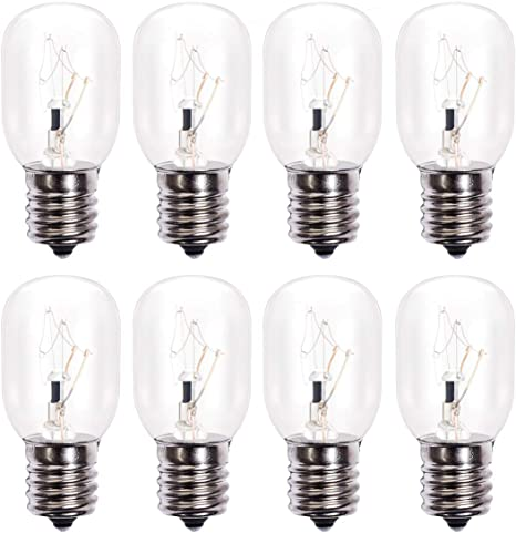 Amazon Com 8206232a Microwave Light Bulb 125v 40w E17 Microwave Oven Light Replacement Part Exact Fit For Whirlpool Maytag Microwaves Extra Long Life And Durable Pack Of 8 Home Improvement