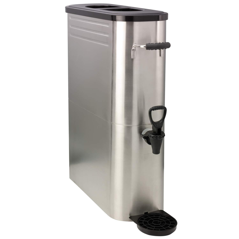 Service Ideas ITSLS5GPL Tea Dispenser, Slim, Stainless Steel, 5 Gallon, Brushed Finish
