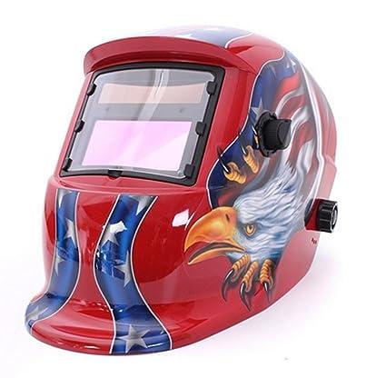 Automático oscurecimiento Solar casco de soldadura Arc Tig Mig máscara soldador objetivo máscara de banco