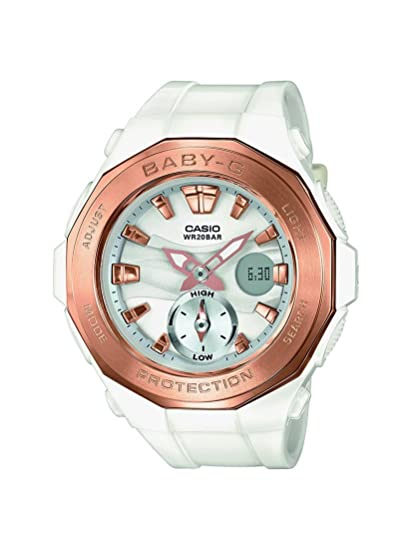 Casio Baby-G BGA-220G-7AER- Reloj analógico-digital, para mujer, con correa de resina, color blanco: Amazon.es: Relojes