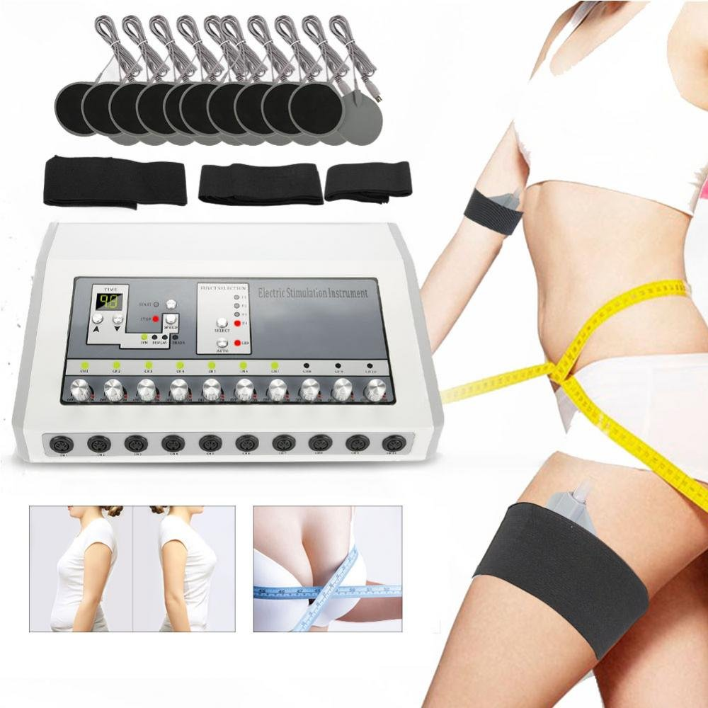 Electronic Body Maaager, Digital Massager Therapy Machine Pain Relief Body Massager Face Lift Slimming Body Machine (#)
