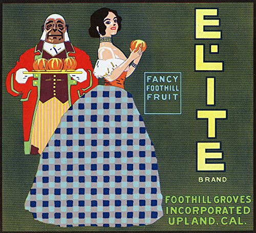 Upland, California - Elite Brand Citrus Label (16x24 SIGNED Print Master Giclee Print w/ Certificate of Authenticity - Wall Decor Travel (Elite Gift Certificates)