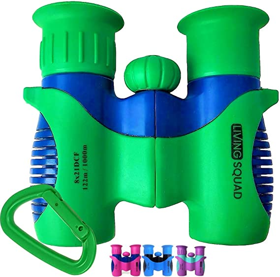 Binoculars for Kids 8x21 High-Resolution - Kids Binoculars Gift Set for Boys & Girls