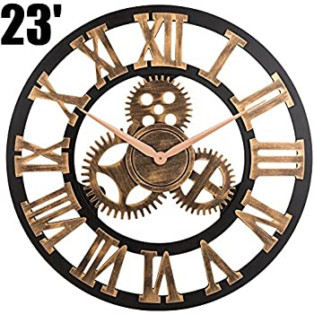 modern contemporary mechanical gear wall clock
