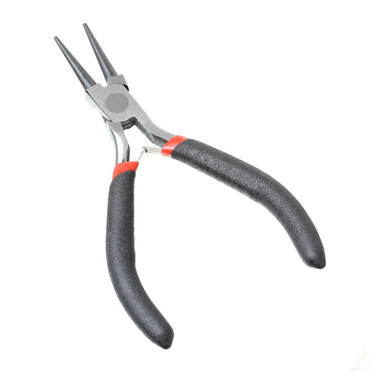 HOUSWEETY 1PC Stainless Steel Needle Nose Pliers Jewelry Making Black 12.5cm HOUSWEETYB33699CA