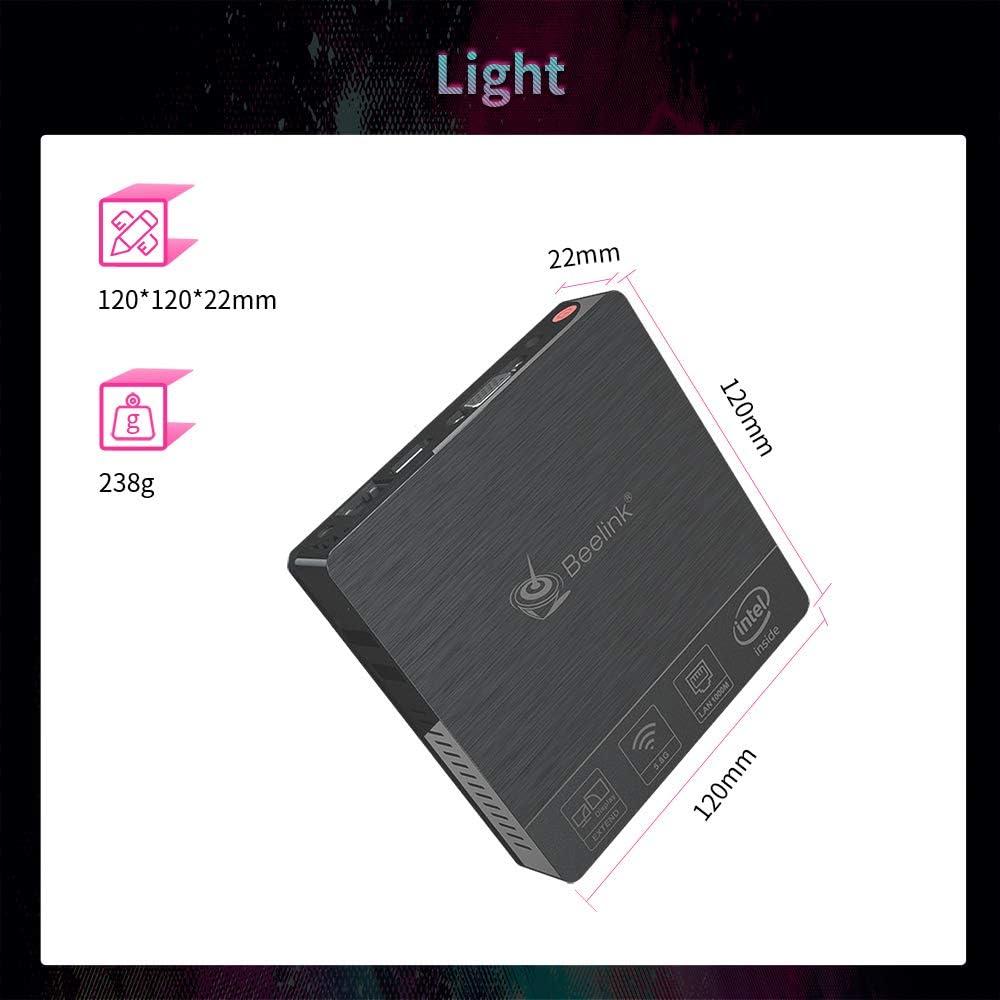 Intel Atom X5-Z8500 Quad Core Mini Computer,4GB DDR3//64GB eMMC,with HDMI+VGA Port,4K@30Hz HD,2.4G+5G WiFi,BT 4.0 Support Auto Power On RTC Wake 64-bit Windows 10 Beelink BT4 Mini PC PXE Boot WOL