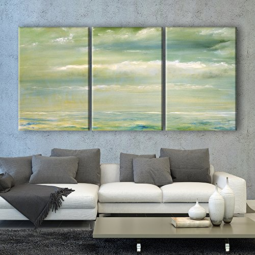 3 Panel Oil Painting Style Seascape x 3 Panels