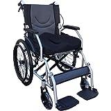 【非課税】Nice Way(ナイスウェイ) 自走式折りたたみ 車椅子【 3Dクッション付き】【座面幅約46cm】【ゆったりサイズ】【簡易式】【自走式】【自走式介護・介助用】【介助ブレーキ付き】(ブラック)