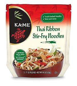 Ka-Me Stir Fry Noodles, Thai Rice, 14.2 Ounce (Pack of 6)
