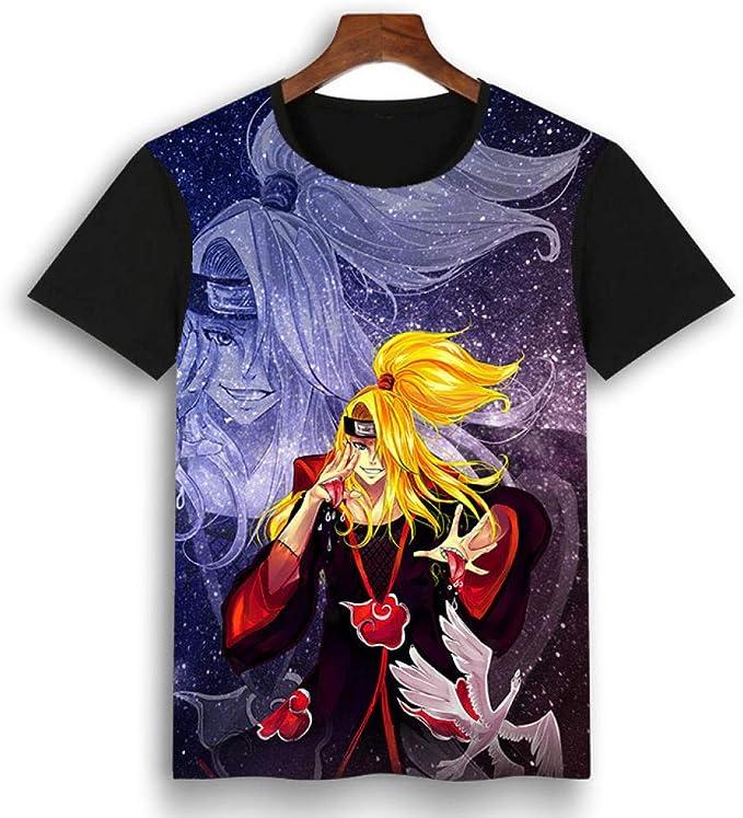 DDFHK Kakashi Naruto Anime periférico Camiseta 3D impresión ...