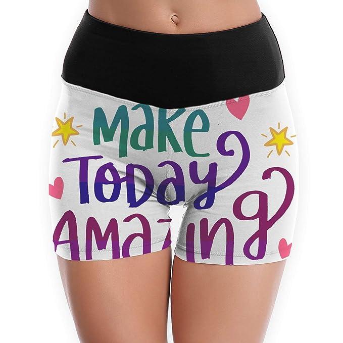 784c647800 Happy Thanksgiving Make Today Amazing Beachwear Beach Pants Female Girls  Adult Womens Short Yoga Pants High