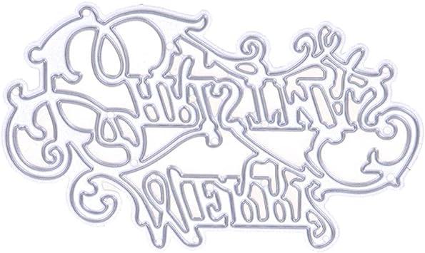 Metall Stahl Alphabet Buchstaben A-Z Stanzformen Schablonen Handwerk YR
