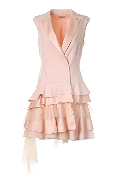 official photos f5843 c4148 Liu Jo Jeans Abito Smoking Rosa 44: Amazon.it: Abbigliamento