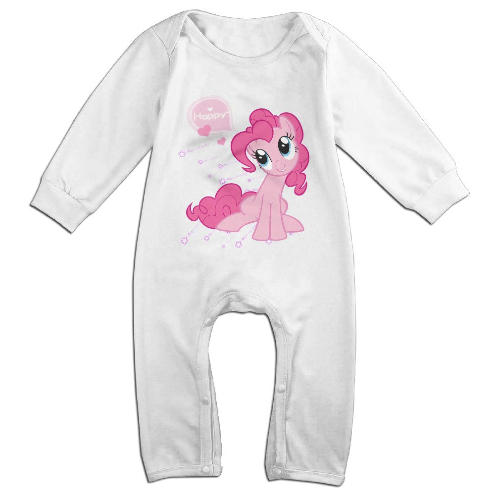 00c3dfd372cb Amazon.com  Gdlov My Little Pony Pinkie Pie Baby s Boys Girls Kids Long  Sleeve Creeper Romper Bodysuits Onesies Jumpsuits Size 18 Months US White   Clothing