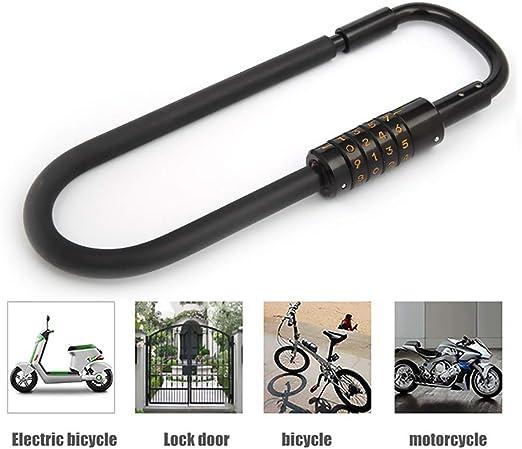 ZXASDC Candado en U, U Lock Candado Bicicleta Alta Seguridad ...