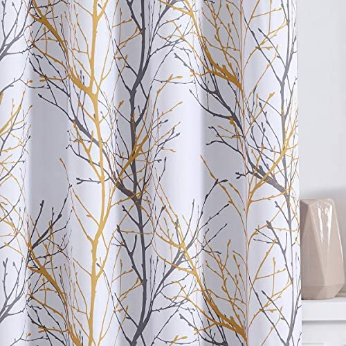 Reviewed: Fmfunctex Yellow Grey Curtains