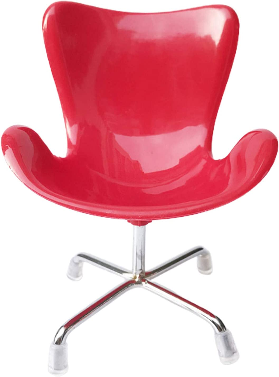 helegeSONG 1:6 Scale Dollhouse Miniature Plastic Chair Dollhouse Living Room Dollhouse Accessories Red