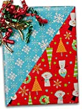 24'' X 100' Snow Buddies Reversible Gift Wrap Christmas