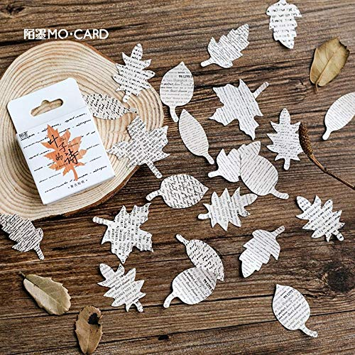 - Cute Sticker - Leaves Poem Stickers Set Decorative Stationery Stickers Scrapbooking DIY Diary Album Stick Label