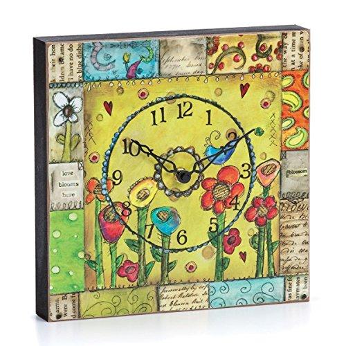 Joyful Nest Love Blooms Clock