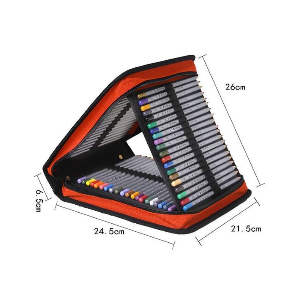 minoristas en línea naranja WJSNDPL School Pencil Case120 Holes grande Penal Penal Penal Pencilcase Plegable Zipper Pen Box Bolsa Bolsa Multifuncional Papelería  respuestas rápidas