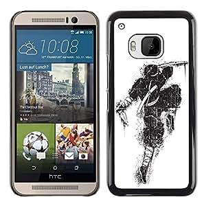 PC/Aluminum Funda Carcasa protectora para HTC One M9 Awesome Graffiti Street Art Ninja / JUSTGO PHONE PROTECTOR