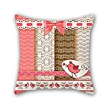 PILLO bird throw pillow case 16 x 16 inches / 40 by 40 cm gift or decor for relatives,lounge,home,home office,birthday,pub - each side