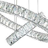 MEEROSEE Crystal Chandelier Lighting Modern Ceiling Pendant Lights