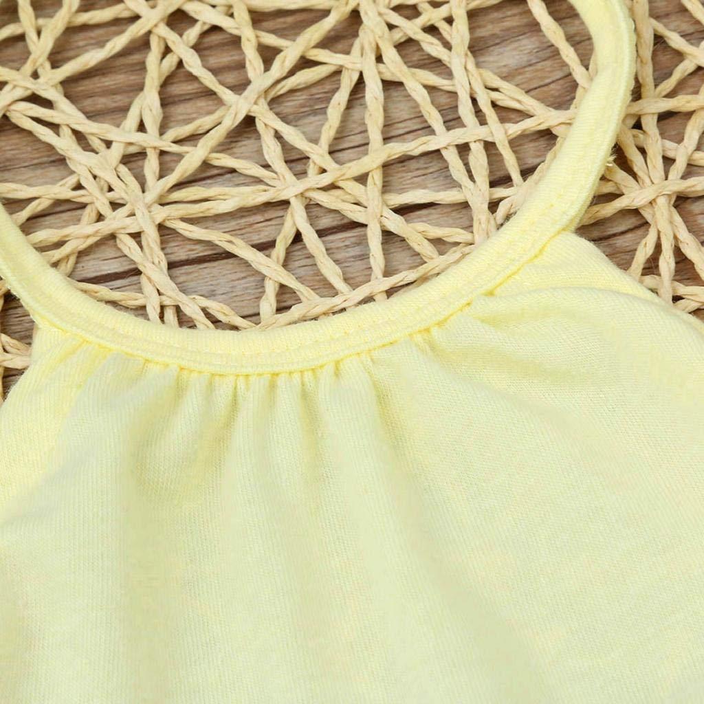 DEELIN Baby Girls Clothes,Unisex Rompers Halter Neck Color Solid Toddler Kid Jumpsuits Baby Girls Bodysuit Soft Newborn Baby Girls Clothes