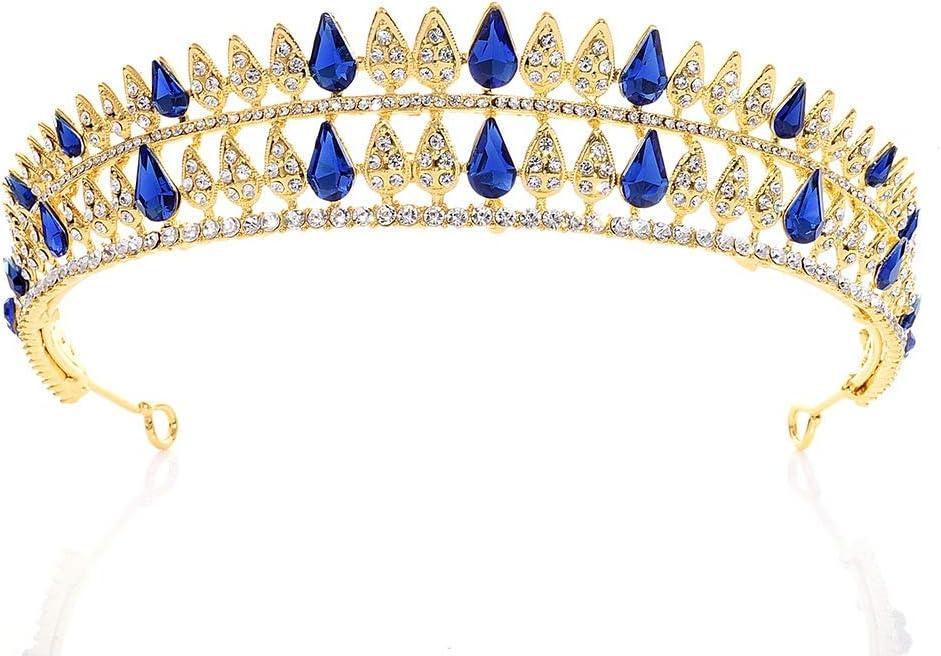 女性のクラウン 結婚式のウエディングヘアかぶとヘアアクセサリークリスタルクラウンラインストーンブライダルブライドメイドクラウンティアラ 発表会 結婚式 入学式 花嫁 (Color : Silver, Size : 16*3.5cm)