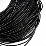 TheTasteJewelry 2mm Genuine Black Natural Leather Cord Rope Jewelry Making Finishings Round 20m String