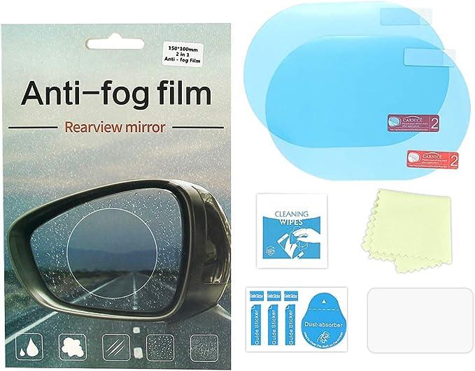 Catizon Wasserdichte Folie Für Auto Rückspiegel Seitenscheibe Anti Fog Anti Glare Anti Kratz Klar Schutzfolie Packung Mit 2 Stück 15 X 10cm Auto