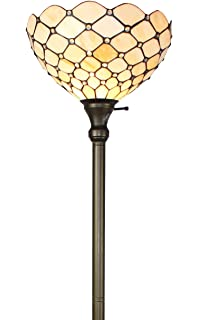 Amora lighting am028fl12 tiffany style jeweled reading floor lamp amora lighting am1119fl14 tiffany style floor torchiere lamp 72 inch aloadofball Image collections