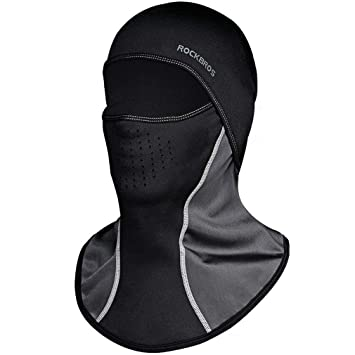 ROCKBROS Winter Cycling Headwear Balaclava Thermal Warm Full Face Mask  Black for Outdoor Sports 960827a24e1